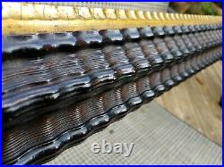 C1850 Excellent Large American Ebonized Dutch Ripple Folk Primitive 16 x 19 Frme