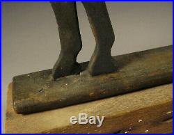 Carved and Black-painted Wood Horse with Horsehair Tail c. 1850-60 AAFA Folk Art