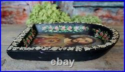 Chirst & Sacred Heart Original Painting & Mliagro Wood Retablo Mexican Folk Art