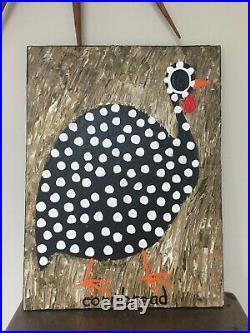 Cornbread Anderson Andersen Southern Folk Art Guinea Hen Painting