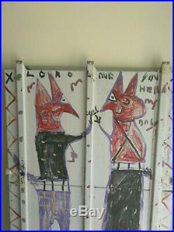 DEVIL & WIFE Outsider Abstract Folk Art Visionary R A MILLER