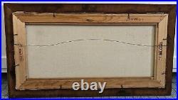 DOLORES HACKENBERGER Original Oil Painting Amish Folk Art SchoolHouse Signed EUC