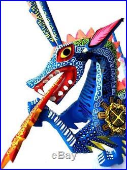 DRAGON Alebrije Oaxacan Wood Carving Hand Painted Folk Art Oaxaca Mexico