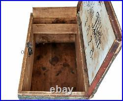 Early 19th Century Hand Painted Swedish Folk Art Pine Box