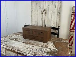 Early Aafa Antique Folk Art Apothecary Cabinet Original Paint
