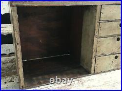 Early Aafa Antique Folk Art Apothecary Cabinet Shelf Cubby Original Paint