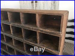 Early Aafa Antique Folk Art Cubbie Tool Wood Cupboard Black Paint Store Display