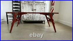 Early Antique Folk Art Aafa Wash / Plant Stand Bucket Bench Table Original Paint
