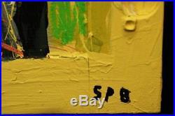 Edward Goss Contemporary Santa Fe Pop Folk Art Raw Brut Outsider Face 2004