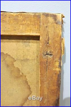 Extremely rare c. 1840-50 American folk art post-mortem antique oil painting