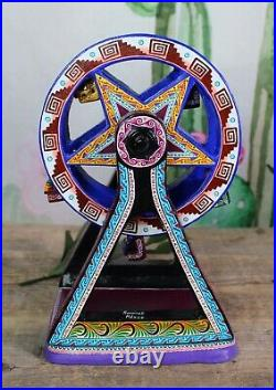 Ferris Wheel Day of the Dead Skeletons Handmade & Hand Painted Mexican Folk Art