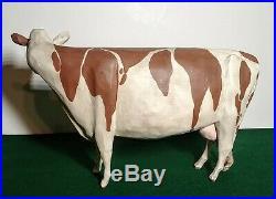 Folk Art Ayrshire Milk Cow Larry Koosed 2007 Hand Carved & Painted