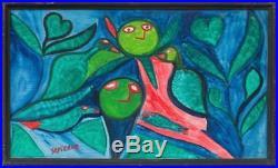 Folk Haitian Painting Famous Saint Pierre Toussaint Haiti Art Brut Naif 14x24