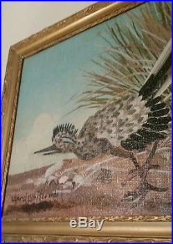 Folk art painting (WARD WHITCOMB) FAMOUS. DISNEY ARTIST & BIG BEAR, Ca