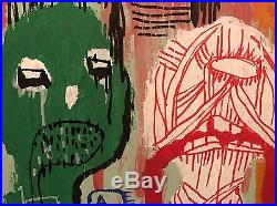 GUS FINK ORIGINAL art Painting Acrylic lowbrow Indian Folk Abstract LOST VOICES