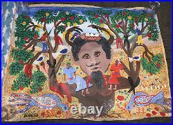 Gerard Fortune Original Oil Painting by Haitian Master Haiti Folk Outsider Art