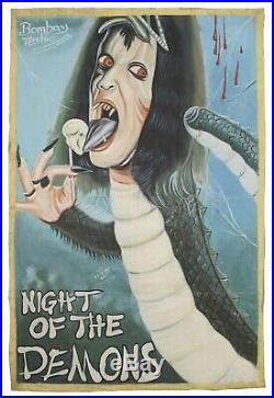 Ghana Movie poster African cinema folk wall hand painted NIGHT OF THE DEMONS