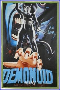 Ghana movie cinema poster Oil Painting Folk outsider Art hand paint DEMONOID