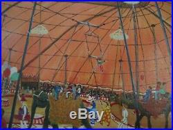 Gloria Stuart Painting Vintage Folk Art Circus Americana Regionalism Performers