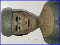 Great 15 Carved and Painted Folk Art Figure Of A Woman