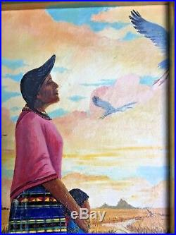 Guy LaBree (1941-2015) Oil Painting Seminole Tribe Florida