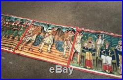 HUGE 3 ft x 9 ft Ethiopian Storyteller Magdala Folk Art Painting Ethiopia Africa