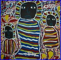 Haitian Folk Art Painting By Famous Artist Louisiane Saint Fleurant Haiti 24x20