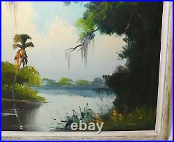 Highwaymen Florida Folk Art Oil Painting Sam Newton 24 x 36 Framed