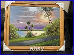 Highwaymen Florida Painting Al Black 30.5 x 36.5 Framed