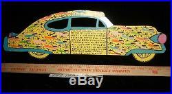 Howard Finster Folk Art Outsider Cadillac' Car Cut Out 1992 25,838