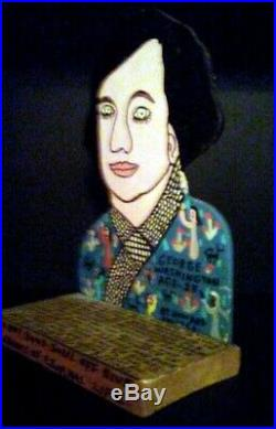 Howard Finster George Washington At 23 (1989) Original American Folk Art
