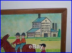 Jack Savitsky Folk Art American Oil On Board Silver Creek P. A. 74 Estate #4