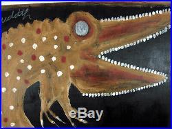 Jimmy Lee Sudduth Alligator Mud Folk Outsider Art Brut Painting