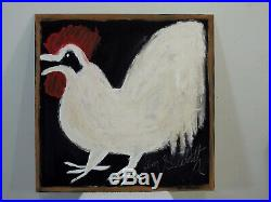 Jimmy Lee Sudduth Chicken Rooster Self-taught Outsider Folk Art Painting