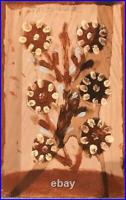 Jimmy Lee Sudduth Flower Mud Folk Outsider Black Painting Art