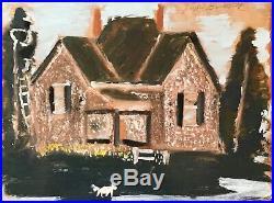 Jimmy Lee Sudduth Original House Folk Painting Outsider Art