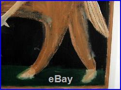 Jimmy Lee Sudduth Outsider Folk Visionary Art Show Horse Rider Jockey Painting