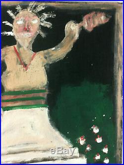 Jimmy Lee Sudduth Statue Of Liberty Outsider Folk Art Painting