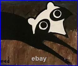 John Cornbread Anderson Original Coon Folk Outsider Art Painting