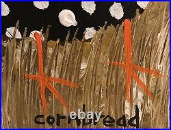 John Cornbread Anderson Original Guinea Contemp Folk Outsider Art Painting