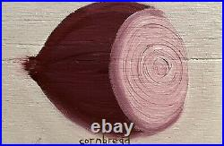 John Cornbread Anderson Original Red Onion Contemp Folk Outsider Art Painting