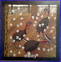 john cornbread anderson southern folk art painting gobblers in