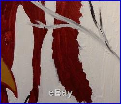 John cornbread Anderson Folk Art Painting of Fox in Winter, 18 x 24