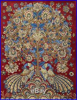 Kalamkari Painting Tree of Life Signed Folk Art'Celebration II' NOVICA India