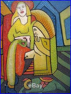 Larry Connatser Listed Southern Folk Art Artist Fantastic Abstract Modernist Oil