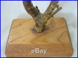 Lg Hand Carved Wood Bird Tree Folk Art Painted Country Primitive Decoy Vintage