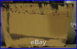 MICHAEL BANKS MODERN FOLK ART PAINTING ABSTRACT POP FACE BIRDS 17.5 x 30