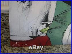 MICHAEL BANKS Outsider ALABAMA FOLK ART PAINTING ABSTRACT FACES 24 x 16