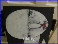MICHAEL BANKS Outsider FOLK ART PAINTING ABSTRACT OUTSIDER ALABAMA 16 x 24