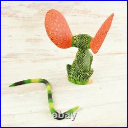 Magia Mexica A1723 Mouse Alebrije Oaxacan Wood Carving Painting Handcrafted